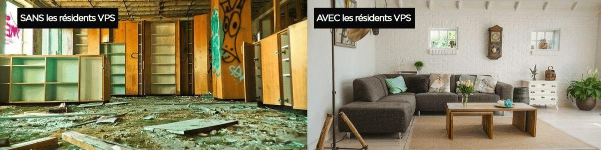 résident temporaire sécurisation logement vacant